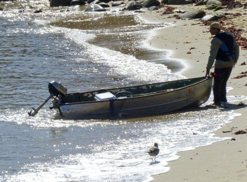 aluminum boat beach